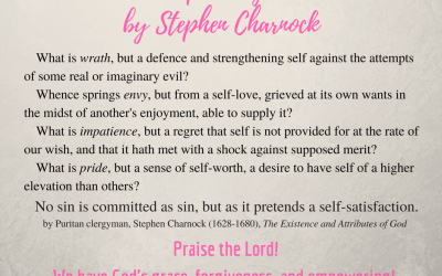 Deep Thoughts from Puritan Stephen Charnock