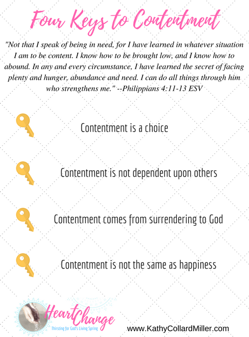 Four Keys to Contentment