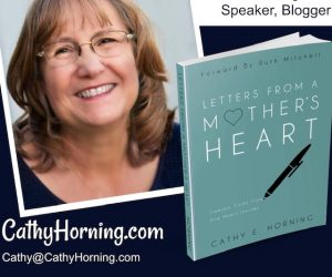 "Book Giveaway: ""Letters From a Mother's Heart"" by Cathy Horning"