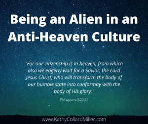 Being an Alien in an Anti-Heaven Culture